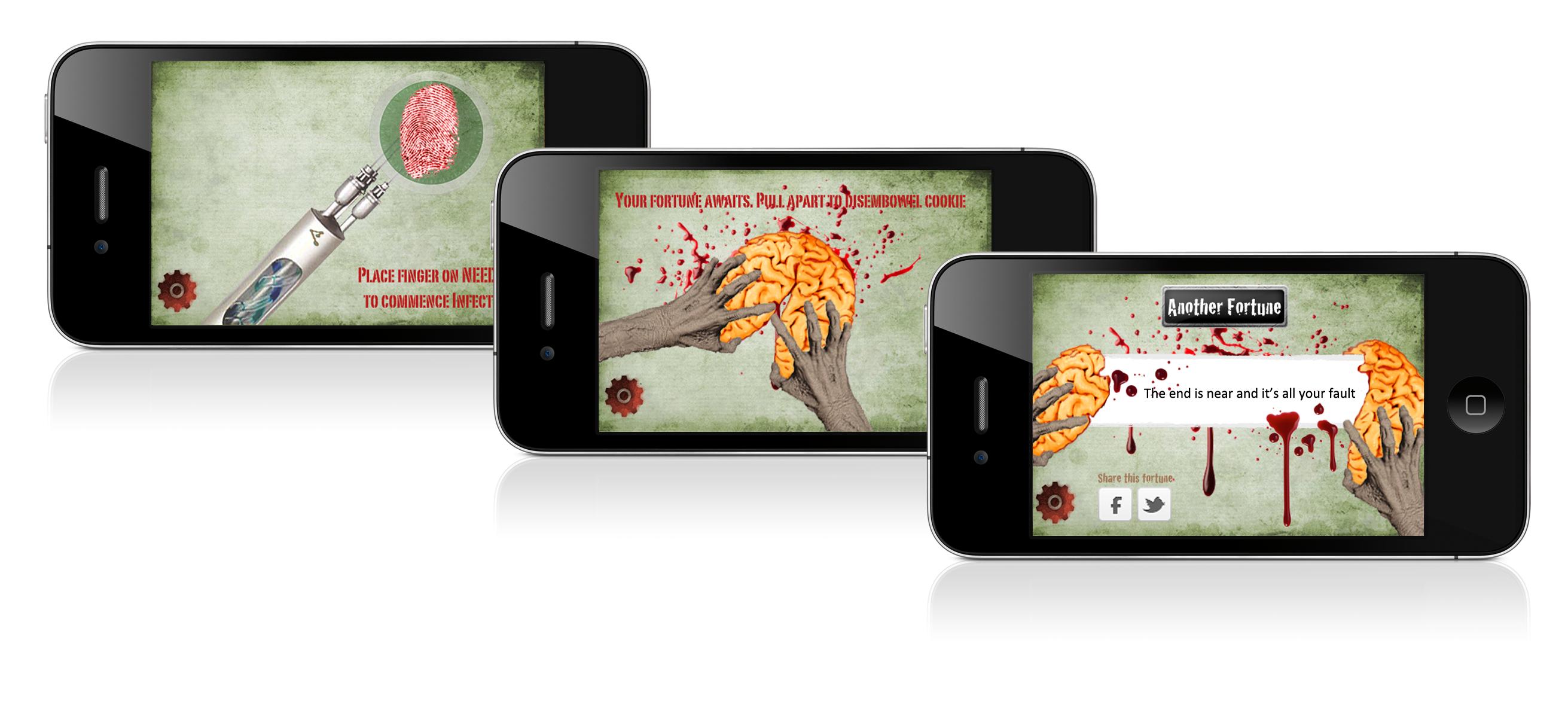 Zombie Fortune Cookies App Screenshots
