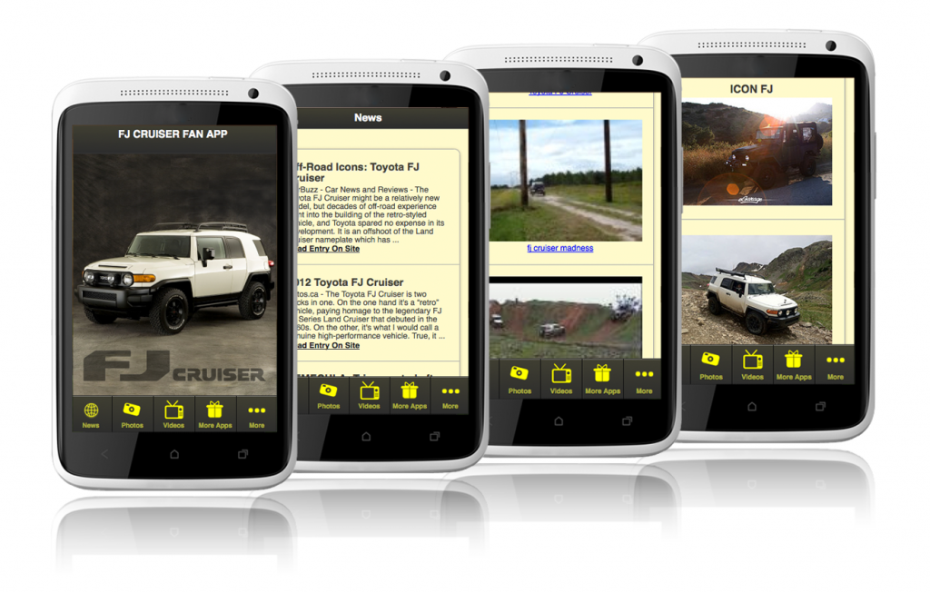 FJ Cruiser Fan App Screen Shots by Pandemic Academic