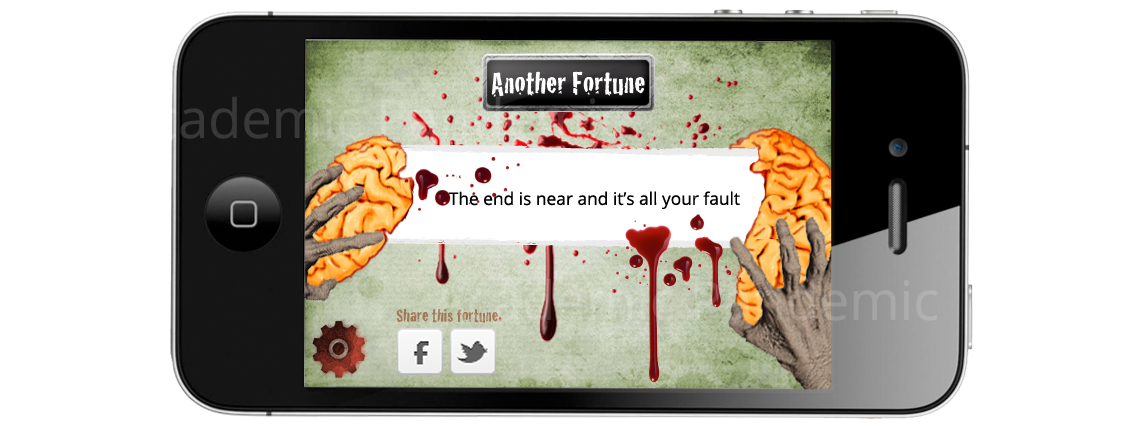 First Ever Zombie Fortune Cookie App